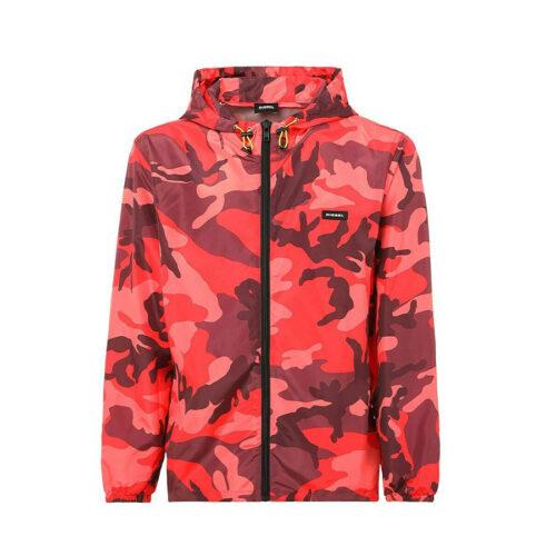 DIESEL Jacket Fold & Go rain jacket with camo print BMOWT-WINDY-FG JACKET 00SJRU 0ICAR E4991