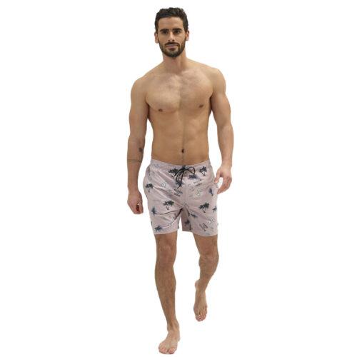 EΜERSON Ανδρικό Μαγιό Men's Printed Packable Volley Shorts 211.EM505.13R-PR 236 PINK