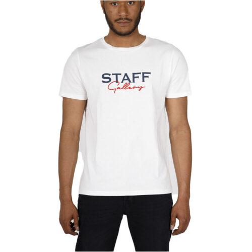 Ανδρικό T-Shirt STAFF Χρώμα Λευκό ARI MAN T-SHIRT 64-001.045-off white