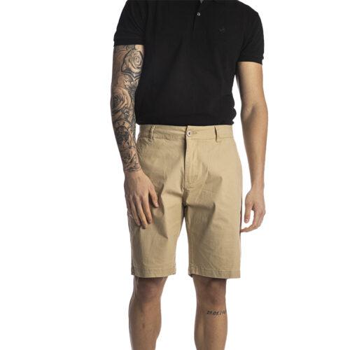 Ανδρική Υφασμάτινη Βερμούδα PACO & CO Χρώμα Μπεζ chino shorts 214618-beige