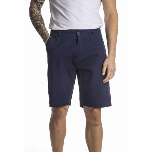 Ανδρική Υφασμάτινη Βερμούδα PACO & CO Χρώμα Μπλε chino shorts 214618-blue