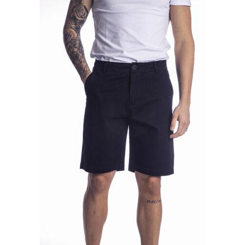 Ανδρική Υφασμάτινη Βερμούδα PACO & CO Χρώμα Σκούρο Μπλε chino shorts 214618-navy