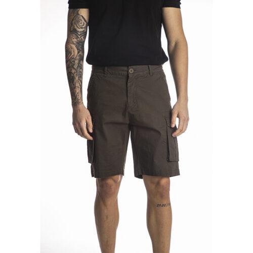 Ανδρική Cargo Βερμούδα PACO & CO cargo shorts 214623-army