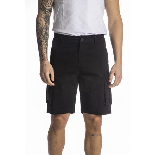 Ανδρική Cargo Βερμούδα PACO & CO cargo shorts 214623-black