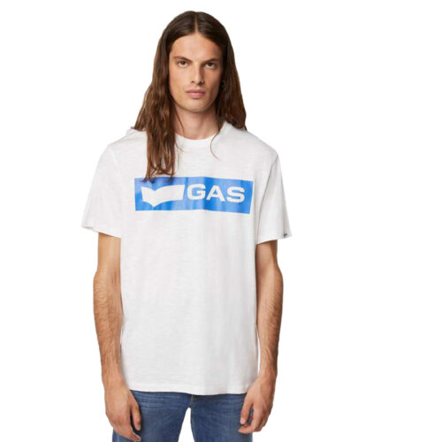 GAS Ανδρικό T-shirt Χρώμα Λευκό SCUBA/S LOGO PR 99369 54 3240 18 2890 0001-white