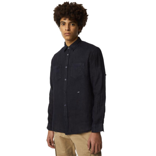 GAS Ανδρικό Πουκάμισο Χρώμα Μπλε DAB/R PK Men's Linen Shirt A1356 15 1354 10 0048 0194-navy blue