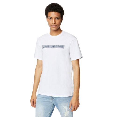 GAS Ανδρικό T-shirt Χρώμα Λευκό SCUBA/S LINE A1105 54 3377 18 4451 0001-white