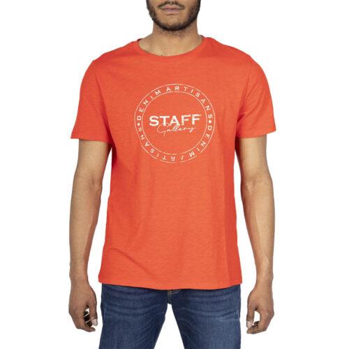 Ανδρικό T-Shirt STAFF Χρώμα Κόκκινο NILES MAN T-SHIRT 64-004.045-red
