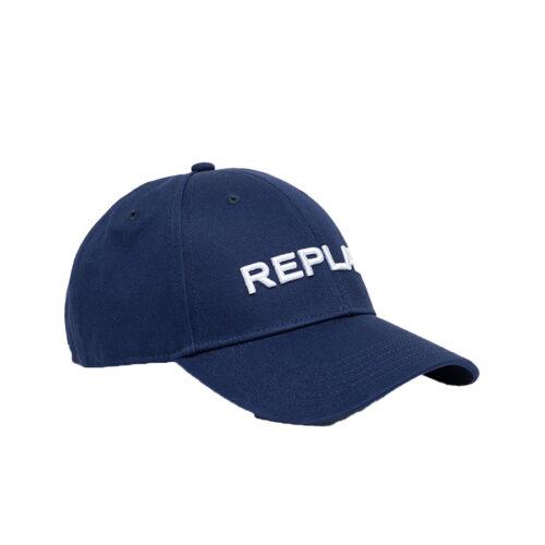 REPLAY ΚΑΠΕΛΟ ΧΡΩΜΑ ΜΠΛΕ AX4161.000.A0113-500-DK BLUE NAVY