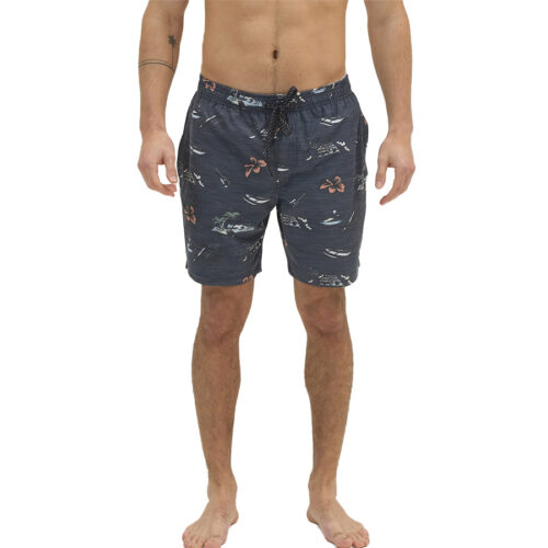 EΜERSON Ανδρικό Μαγιό Men's Printed Packable Volley Shorts 211.EM505.12R-PR 239 MIDNIGHT BLUE