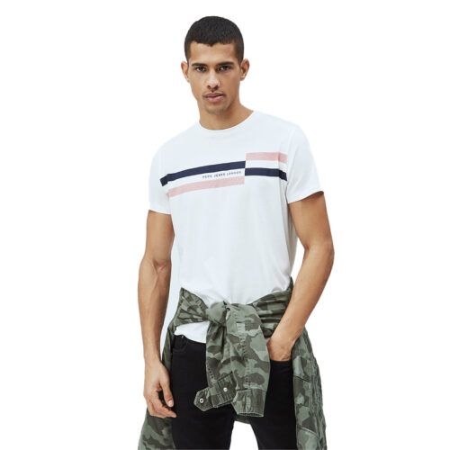 ΑΝΔΡΙΚΟ T-SHIRT E2 DONOVAN PEPE JEANS PM507749-803 off white