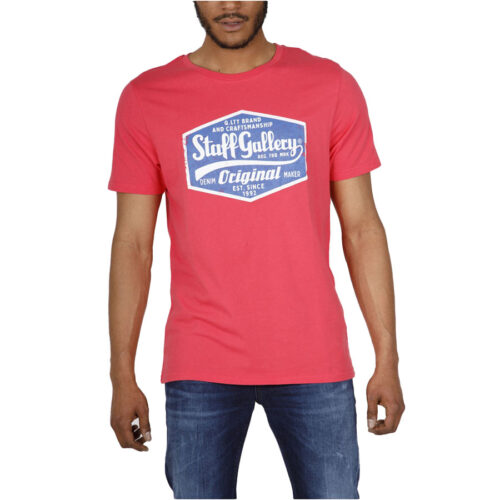 Ανδρικό T-Shirt STAFF CALVIN MAN T-SHIRT 64-011.045-cherry