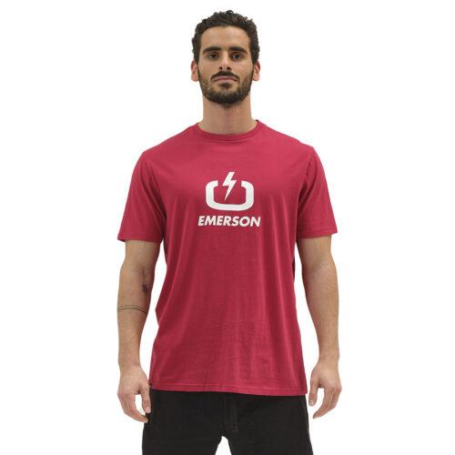 Emerson Ανδρικό T-Shirt Χρώμα Kόκκινο SIGNATURE LOGO T-SHIRT 211.EM33.01-red