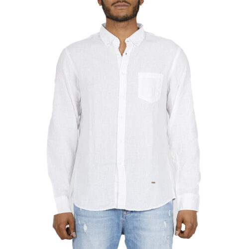 Ανδρικό Πουκάμισο STAFF Χρώμα Λευκό CARBON MAN SHIRT 61-009.045-white