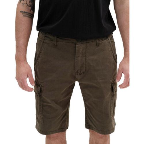 Ανδρική Cargo Βερμούδα EΜERSON Χρώμα Πράσινο Emerson Men's Stretch Cargo Short Pants 211.EM47.95-olive