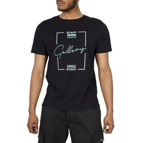 Ανδρικό T-Shirt STAFF Χρώμα Μαύρο LEYTON MAN T-SHIRT 64-003.045-black