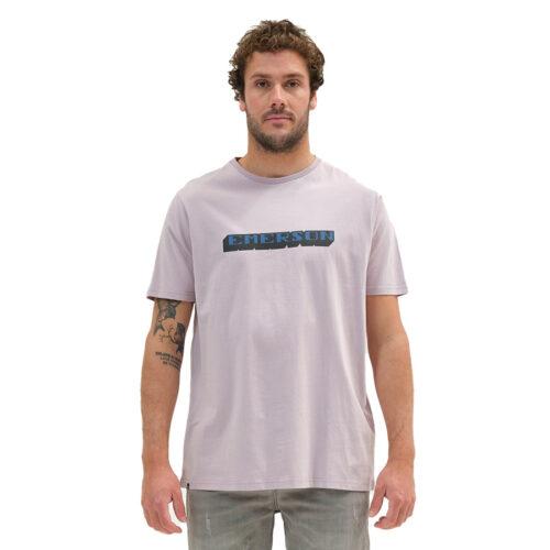 Ανδρικό T-Shirt Emerson Χρώμα Ροζ BOLDED LOGO EMERSON T-SHIRT 211.EM33.14-cool pink
