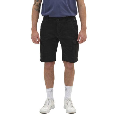 Ανδρική Cargo Βερμούδα EΜERSON Χρώμα Μαύρο Emerson Men's Stretch Cargo Short Pants 211.EM47.95-black