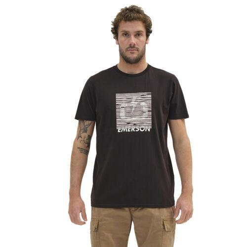 Ανδρικό T-Shirt Emerson Χρώμα Μαύρο EMERSON DIGITAL LOGO T-SHIRT 211.EM33.66-black