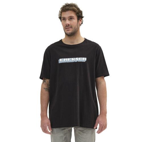 Ανδρικό T-Shirt Emerson Χρώμα Μαύρο BOLDED LOGO EMERSON T-SHIRT 211.EM33.14-black