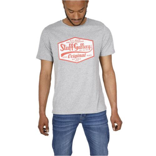 Ανδρικό T-Shirt STAFF CALVIN MAN T-SHIRT 64-011.045-grey melanze
