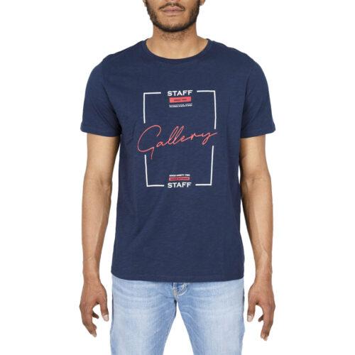 Ανδρικό T-Shirt STAFF Χρώμα Μπλε LEYTON MAN T-SHIRT 64-003.045-blue navy