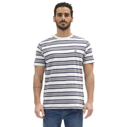 Ανδρικό T-Shirt EMERSON ALL OVER PRINT STRIPED T-SHIRT 211.EM33.80-PR 234 ICE