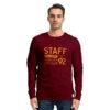 Ανδρική Μακρυμάνικη Μπλούζα STAFF Χρώμα Μπορντό Curt Man T-Shirt 64-016.046-bordeaux