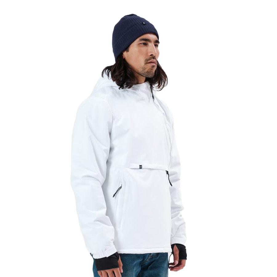 Emerson Ανδρικό Μπουφάν Με Κουκούλα Χρώμα Λευκό Men's Pullover Jacket with Hood 212.EM10.68-K9 WHITE