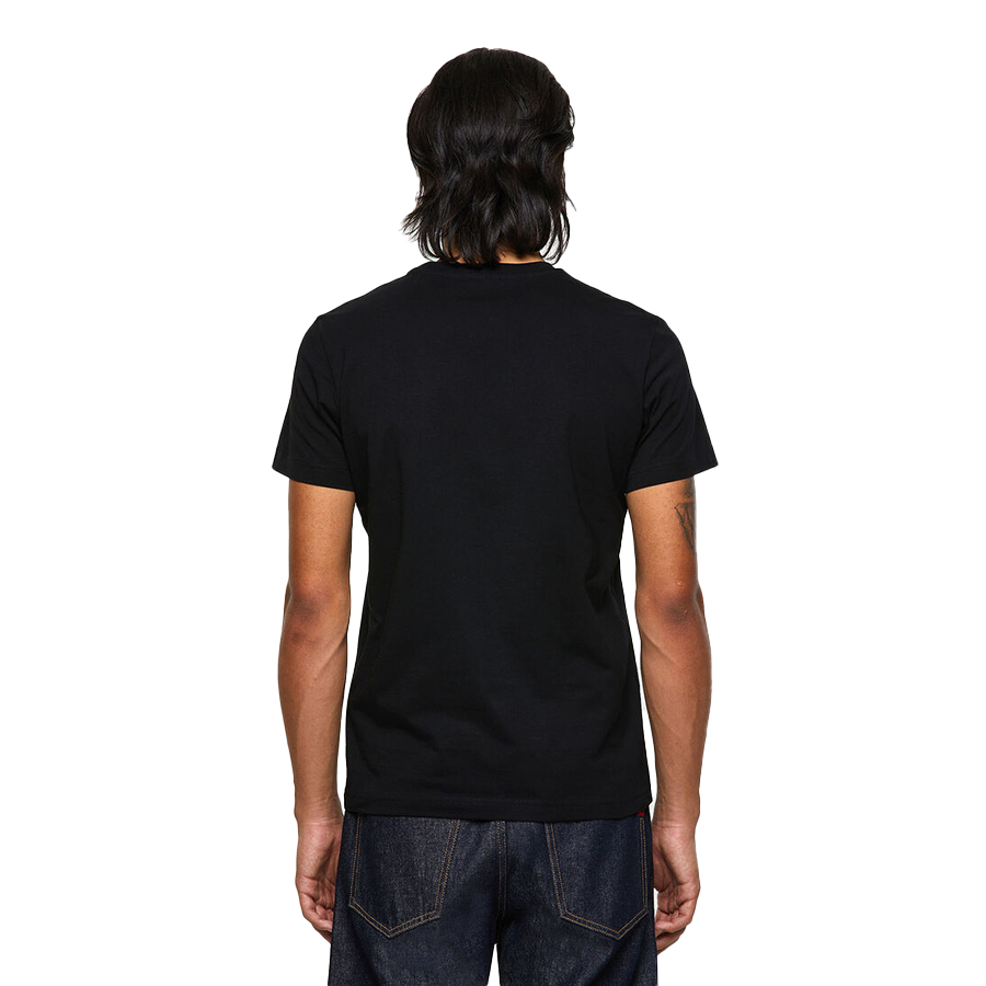 DIESEL ΑΝΔΡΙΚΟ T-SHIRT Χρώμα Μαύρο Diesel T-DIEGOS-ECOSMALLOGO T-SHIRT A02878 0AAXJ 9XX-black