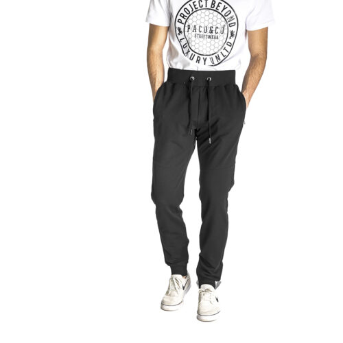 Aνδρικό Παντελόνι Φόρμας PACO & CO Χρώμα Μαύρο Men's Jogger Pant 218653-black