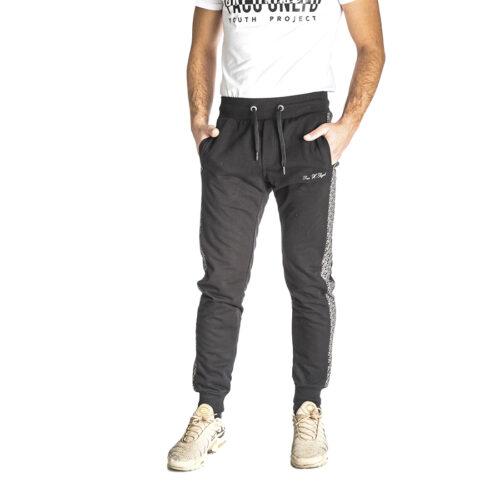 Aνδρικό Παντελόνι Φόρμας PACO & CO Χρώμα Μαύρο Men's Jogger Pant 218665-black