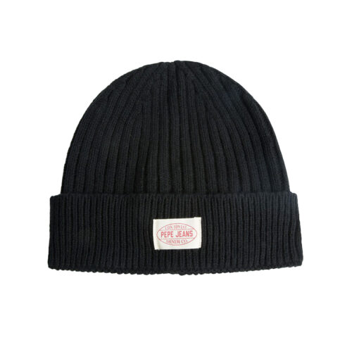 Pepe Jeans Ανδρικός Σκούφος Χρώμα Μαύρο E2 RONY KNIT HAT PM040494 985 infinity