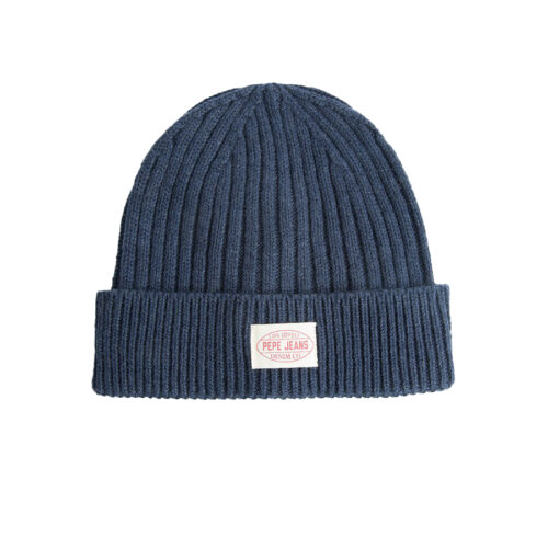 Pepe Jeans Ανδρικός Σκούφος Χρώμα Μπλε E2 RONY KNIT HAT PM040494 -571 scout blue