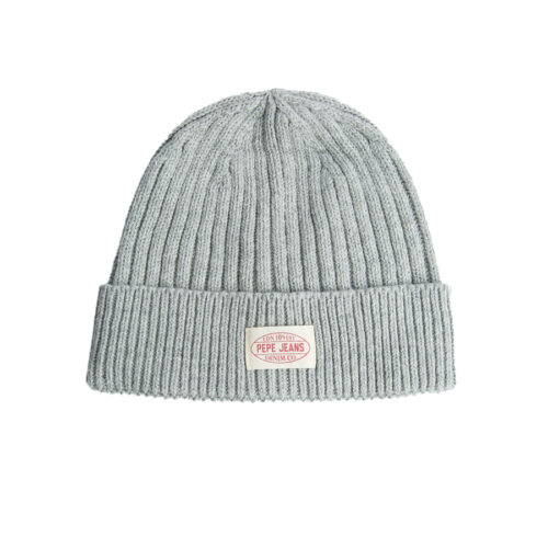 Pepe Jeans Ανδρικός Σκούφος Χρώμα Γκρι E2 RONY KNIT HAT PM040494 -933 grey marl