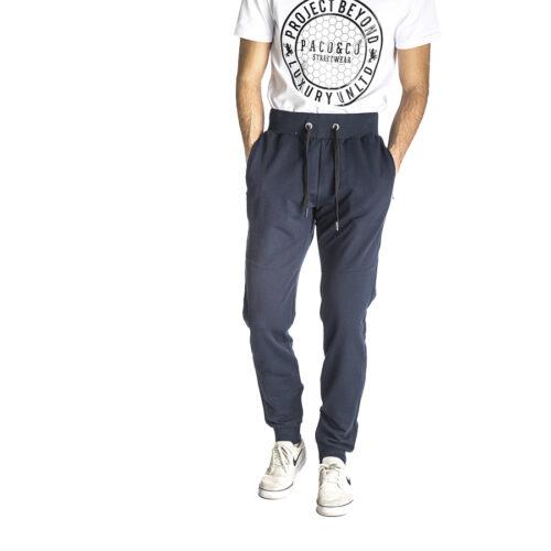 Aνδρικό Παντελόνι Φόρμας PACO & CO Χρώμα Μπλε Men's Jogger Pant 218653-blue