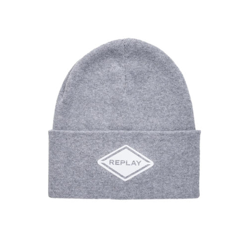 Replay Ανδρικός Beanie Σκούφος Χρώμα Γκρι REPLAY SOLID-COLOURED REPLAY BEANIE AX4291.000.A7059-016 grey melange