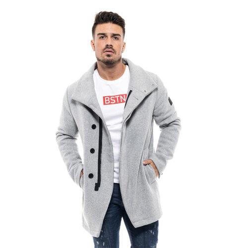 Biston Ανδρικό Παλτό Χρώμα Ανοιχτό Γκρι Coat Biston 46-201-050- light grey