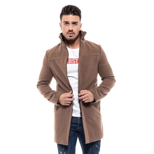 Biston Ανδρικό Παλτό Χρώμα Ανοιχτό Καφέ Coat Biston 46-201-010-light brown