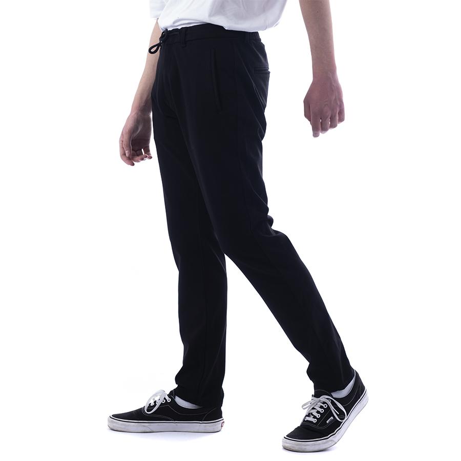 Ανδρικό Υφασμάτινο Παντελόνι Με Κορδόνι Χρώμα Μαύρο Scinn Dilbert NORIBU Loose Straight 221- 221.18.SP157 black