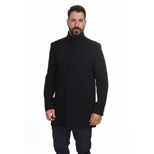 Biston Ανδρικό Παλτό Χρώμα Μαύρο Coat Biston 44-201-009- Black