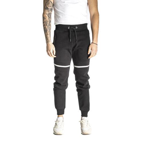 Aνδρικό Παντελόνι Φόρμας PACO & CO Χρώμα Μαύρο Men's Jogger Pant 218660-black